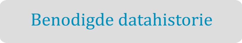 FAQ benodigde datahistorie